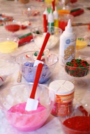 Buttercream Frosting recipe for decorating the Holiday Sugar cookies.