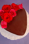 Chocolate Ganache Cake recipe for Valentine's Day.