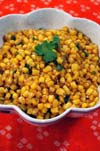 Corn with Green Chilies, Ginger and Spices Indian recipe