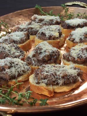 Recipe for crustini
