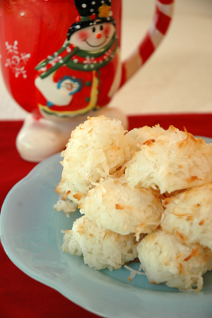 Recipes for coconut macaroons
