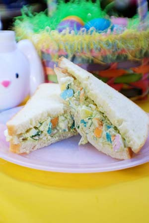 Salads And Sandwiches. Easter Egg Salad Sandwich