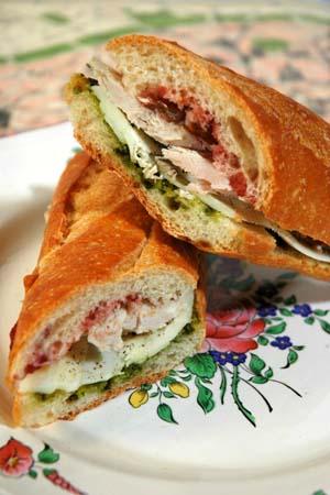Barbara adams beyond wonderful turkey bistro sandwich for Thanksgiving turkey sandwich recipe