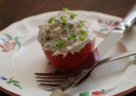 Simply Sensational</br> Tuna-Stuffed Tomatoes -