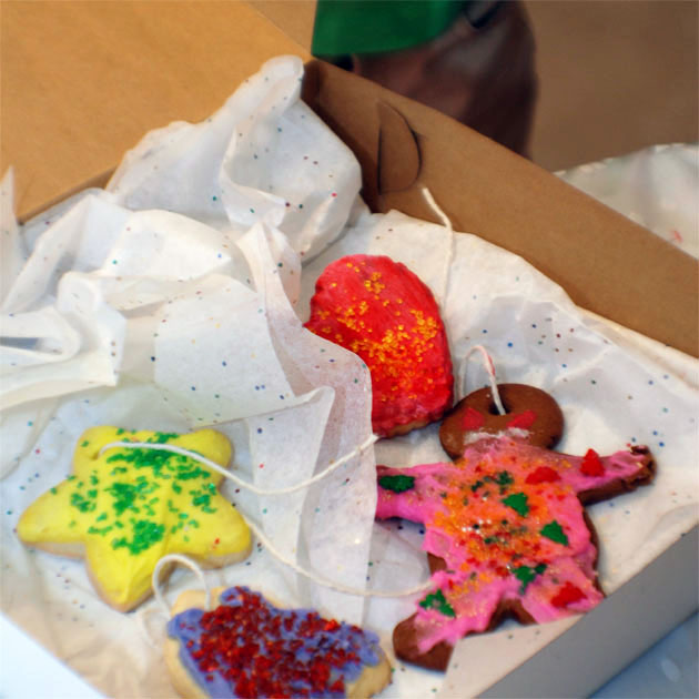 Boxed cookies. Barbara Adams Beyond Wonderful Christmas Cookie Decorating Party.