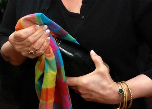 How to remove the cork from Champagne.