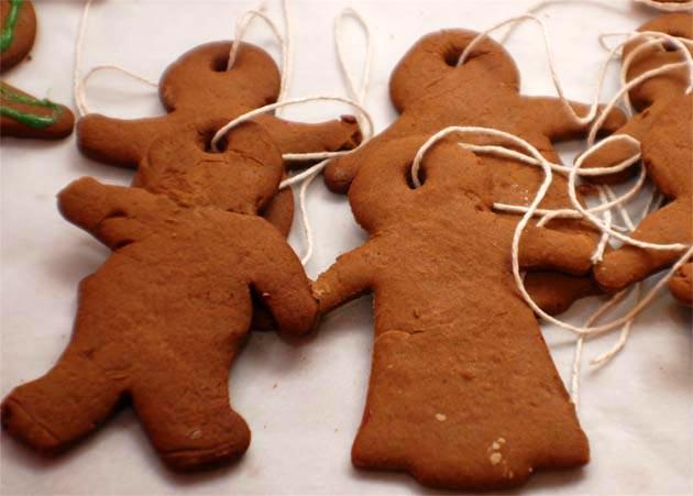Gingerbread people from Barbara Adams Beyond Wonderful Christmas Cookie Decorating Party.
