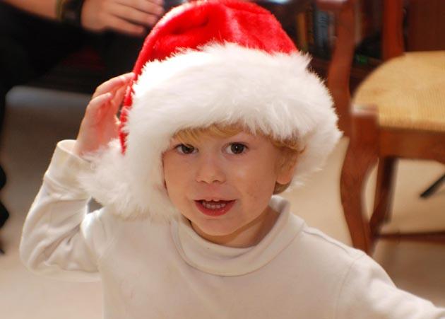 Baby santa. Barbara Adams Beyond Wonderful Christmas Cookie Decorating Party.