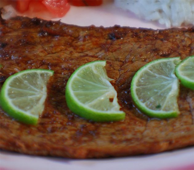 Mexican Carne Asada with Limes